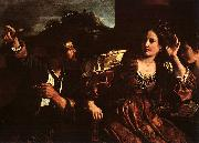 Giovanni Francesco  Guercino Semiramis Receiving Word of the Revolt of Babylon oil painting